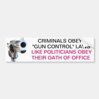 Guns and politicans bumper sticker