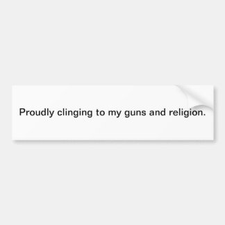 Guns and religion bumper sticker