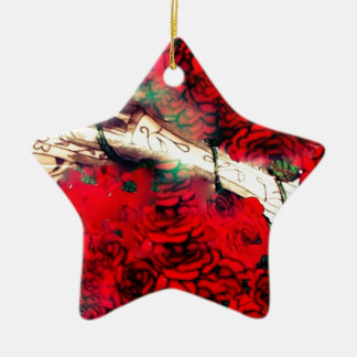 Guns and roses ceramic star decoration