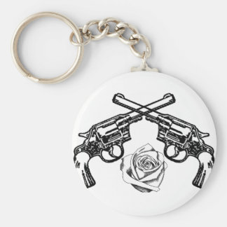 guns and roses key chain
