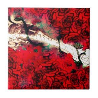 Guns and roses small square tile