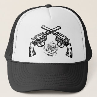 guns and roses trucker hat