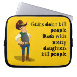 Guns Don't Kill, Dadism Laptop Sleeve