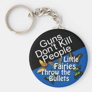Guns Don't Kill People Button Basic Round Button Key Ring