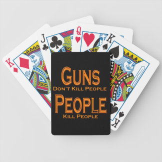 Guns Don't Kill People Kill People orange Bicycle Playing Cards