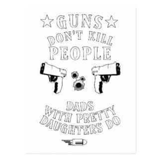 Guns Don't Kill People... Postcard