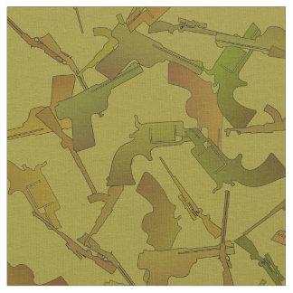 Guns Green and Brown Mock Camo Pattern Fabric