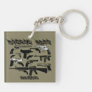 Guns Guns Square (double-sided) Keychain
