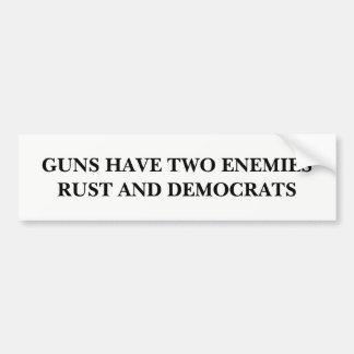 Guns Have Two Enemies Bumper Sticker