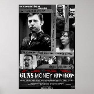 GUNS MONEY HIP HOP Poster