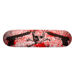 Guns n Skull Custom Skate Board