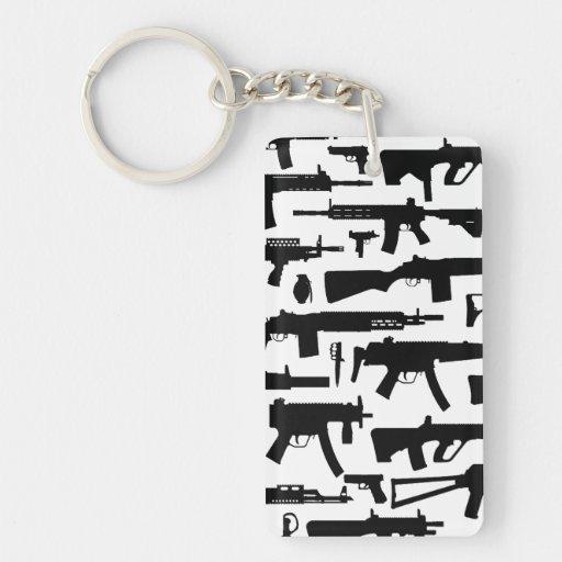 Guns pattern acrylic key chain