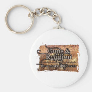 guns&religion basic round button key ring