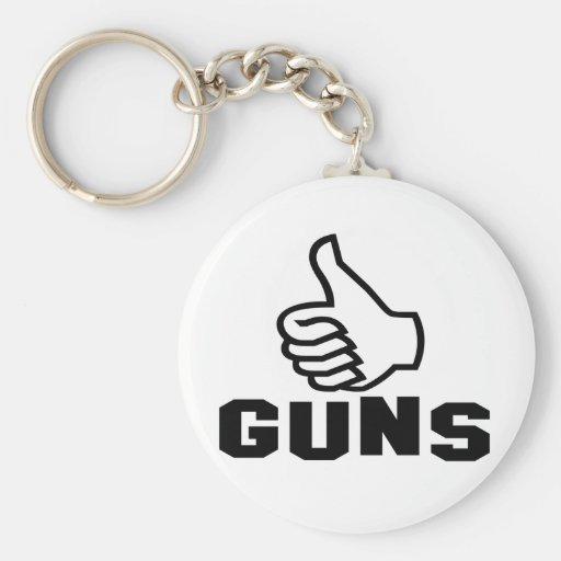 Guns with Thumbs Up Keychains