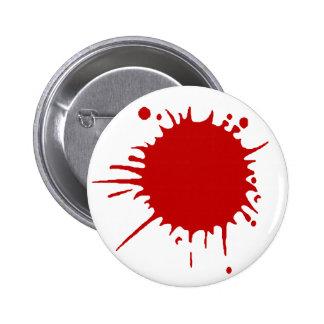 gunshot wound 6 cm round badge