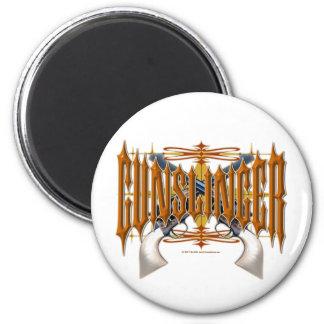 Gunslinger 6 Cm Round Magnet