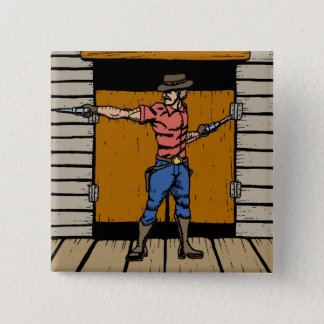 Gunslinger At Saloon Button