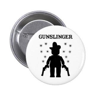 Gunslinger Cowboy Minifig Buttons
