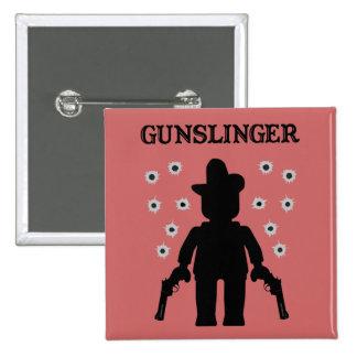 Gunslinger Cowboy Minifig Pinback Button