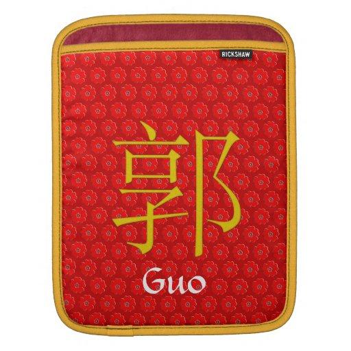 Guo Monogram iPad Sleeve