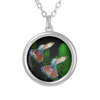 Guppies Silver Plated Necklace