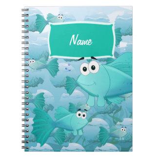 Guppy fish notebooks