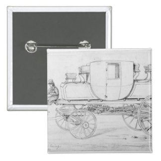 Gurney's Steam Carriage, 1827 15 Cm Square Badge
