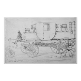 Gurney's Steam Carriage, 1827 Poster