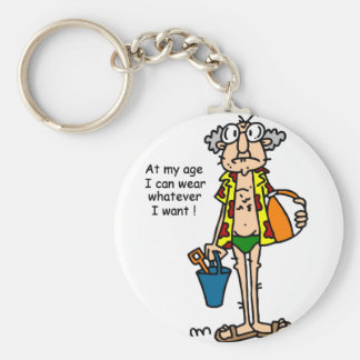Gus-Age Thing Tshirts and Gifts Basic Round Button Key Ring