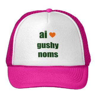 Gushy Noms Hats
