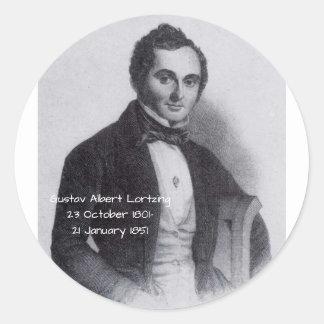 Gustav Albert Lortzing Classic Round Sticker