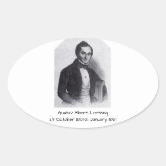 Gustav Albert Lortzing Oval Sticker