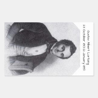 Gustav Albert Lortzing Rectangular Sticker