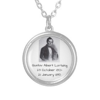 Gustav Albert Lortzing Silver Plated Necklace