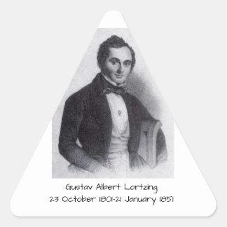 Gustav Albert Lortzing Triangle Sticker