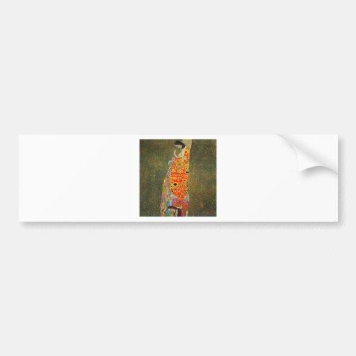 Gustav Klimt Abandoned Hope Bumper Stickers