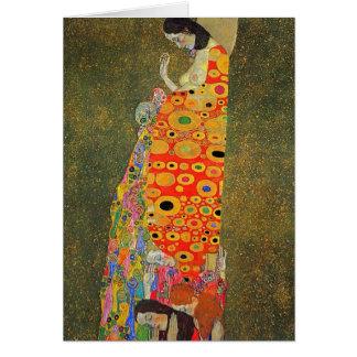 Gustav Klimt Abandoned Hope Card