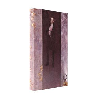 Gustav Klimt - Actor Josef Lewinsky as Carlos Stretched Canvas Prints