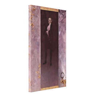 Gustav Klimt - Actor Josef Lewinsky as Carlos Canvas Print