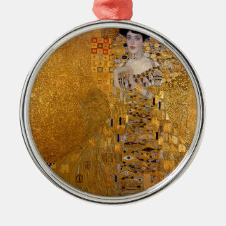 Gustav Klimt - Adele Bloch-Bauer I Painting Metal Ornament