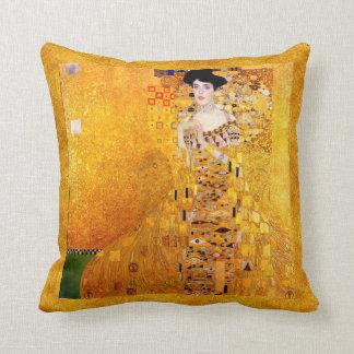 Gustav Klimt Adele Bloch-Bauer Vintage Art Nouveau Cushion