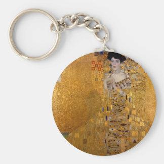 Gustav Klimt // Adele Bloch-Bauer's Portrait. Basic Round Button Key Ring