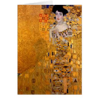 """Gustav Klimt """"Adele"""" Portrait Vintage Card"""