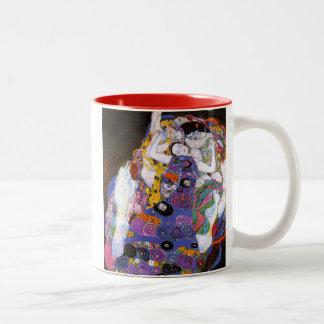 Gustav Klimt and Virgins Two-Tone Coffee Mug