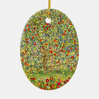 Gustav Klimt Apple Tree Ceramic Ornament