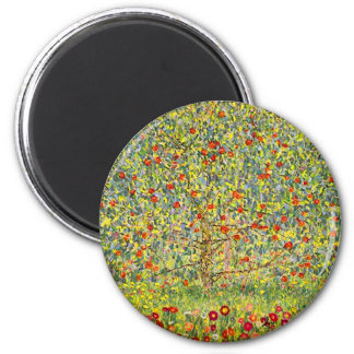 Gustav Klimt Apple Tree Magnet