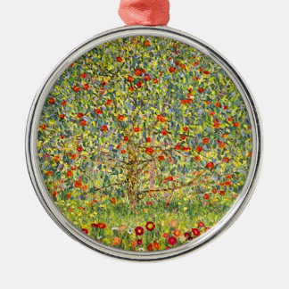 Gustav Klimt Apple Tree Metal Ornament
