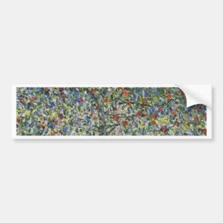 Gustav Klimt - Apple Tree Painting Bumper Sticker