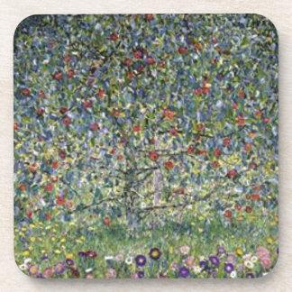 Gustav Klimt - Apple Tree Painting Coaster