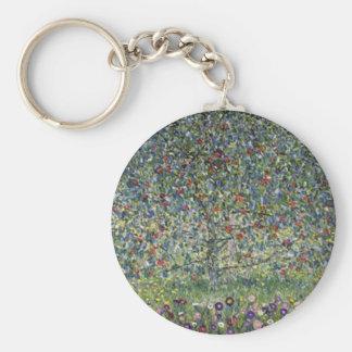 Gustav Klimt - Apple Tree Painting Key Ring